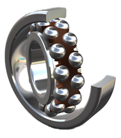 Radial spherical ball bearing